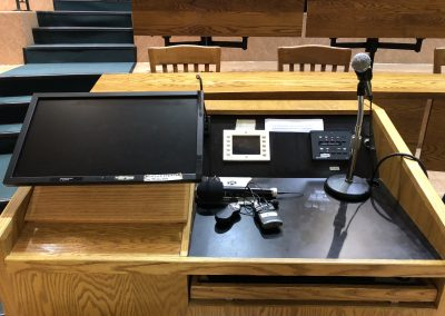 Podium and Control Panel