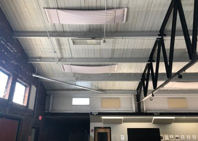 Acoustic Panels mounted on ceiling